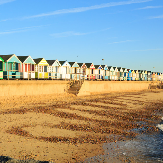"""Beach Huts in a row"" stock image"