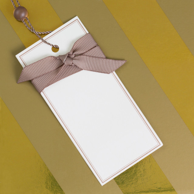 """""""Gift Label"""" stock image"""