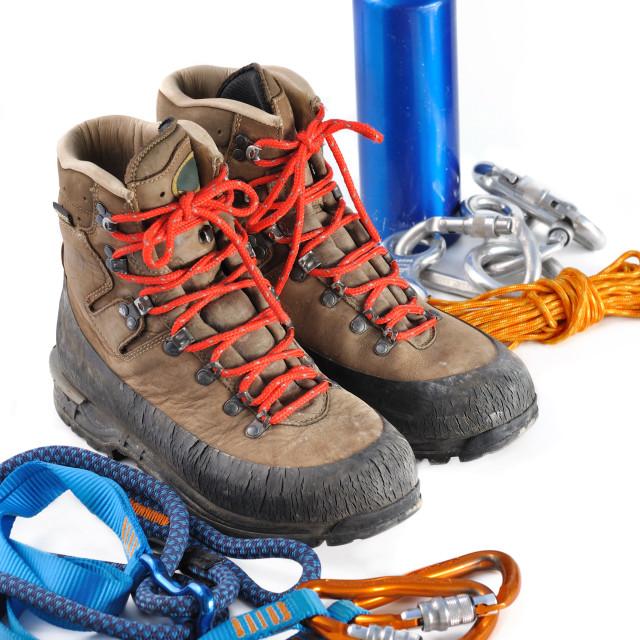 """mountaineering equipment"" stock image"