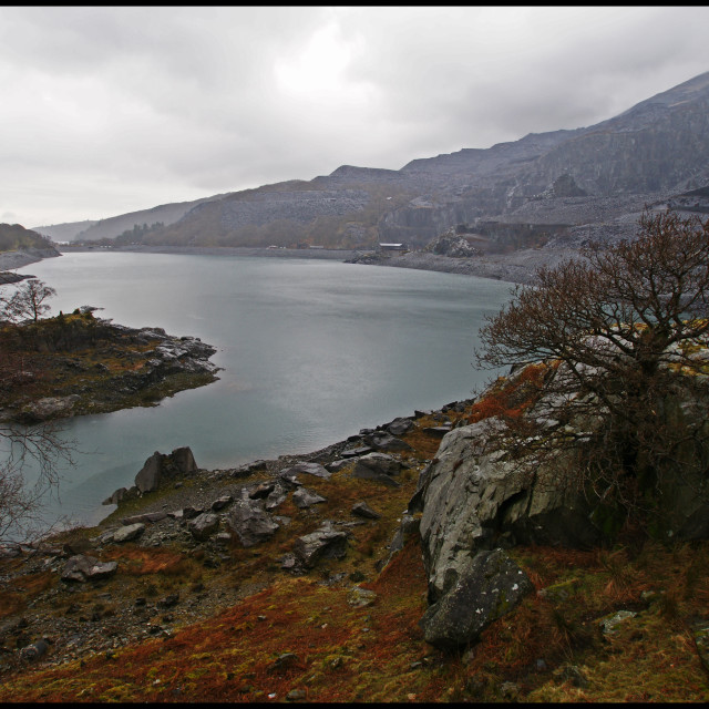 """Llanberis Lake"" stock image"