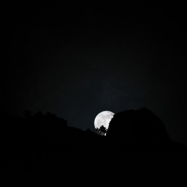 """Moonrise - Azores"" stock image"