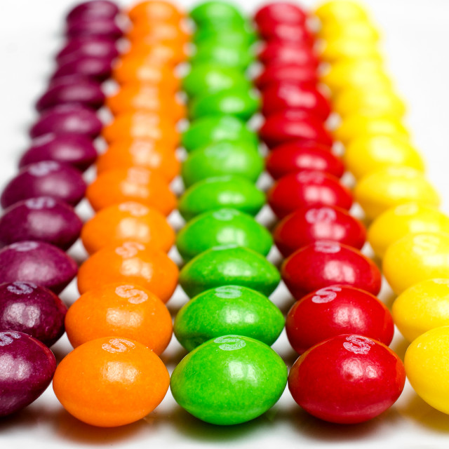 """Sweets/Candy Rows"" stock image"