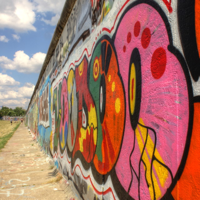 """""""Berlin Wall graffitti"""" stock image"""