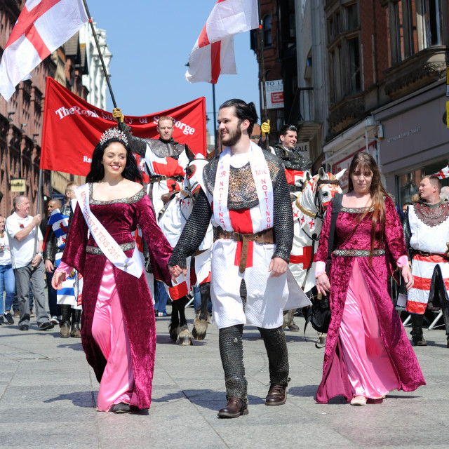 """St George's Day Parade"" stock image"