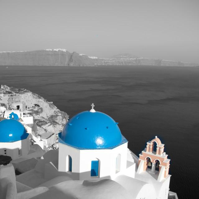 """Blue & White"" stock image"
