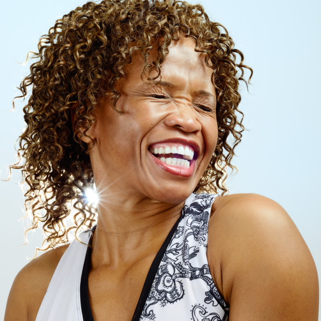 """Laughing woman"" stock image"