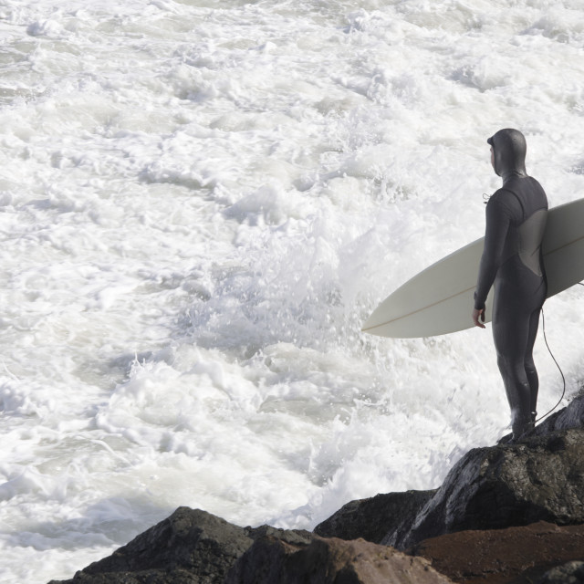 """Surfer at the ocean"" stock image"