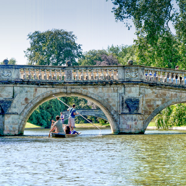 """Punting Cambridge"" stock image"