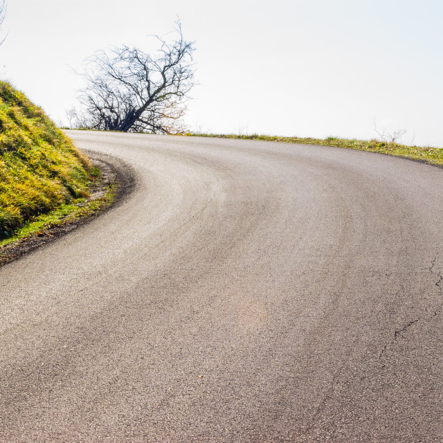 """""""Asphalt Road in the Country"""" stock image"""