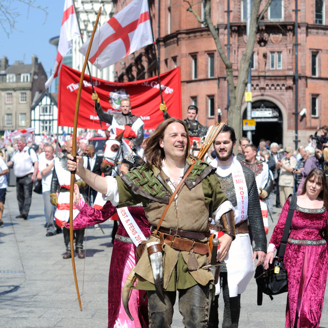 """St George's Day Parade ."" stock image"