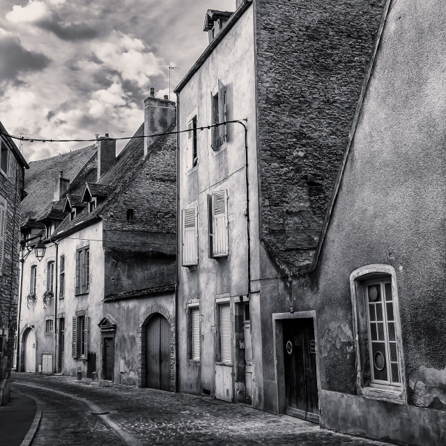 """Burgundian Street"" stock image"