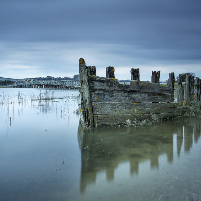 """The old wreck"" stock image"