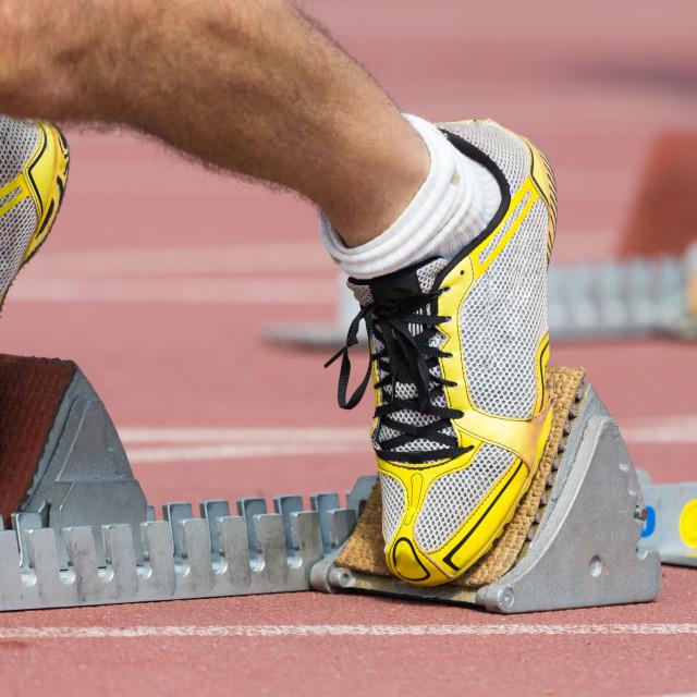 """""""Track runner"""" stock image"""