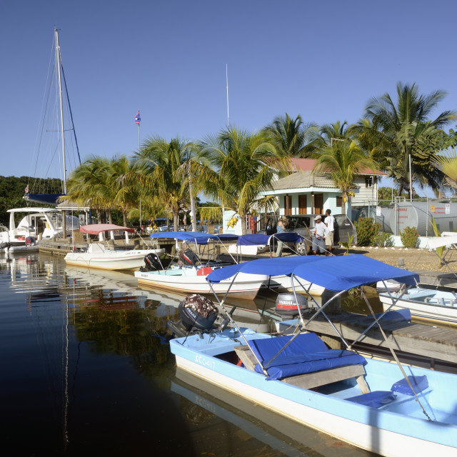 """A view of Sittee River Marina"" stock image"