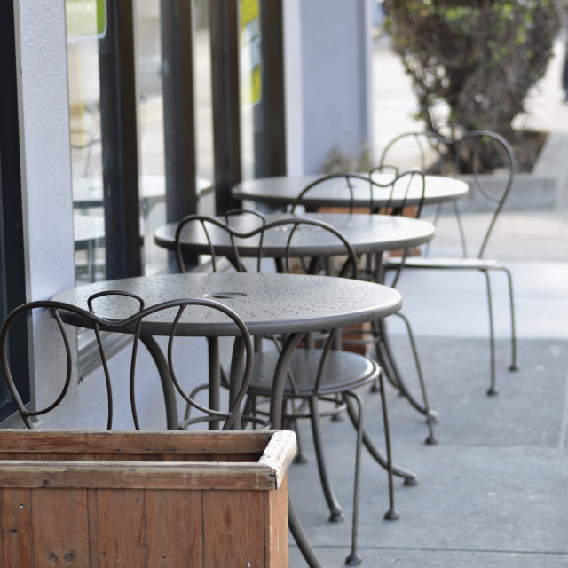 """Cafe tables"" stock image"
