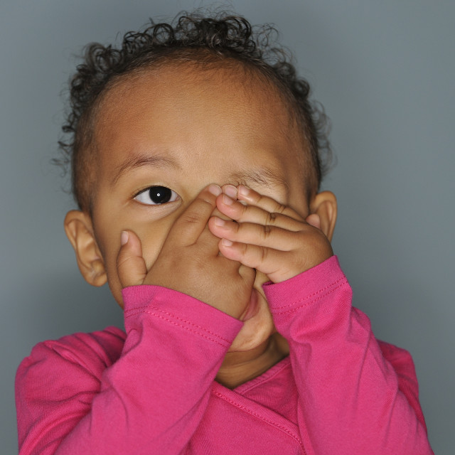 """Mixed race infant girl"" stock image"