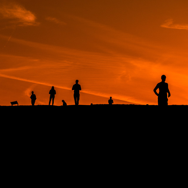 """Sunset Runners"" stock image"