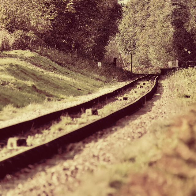 """""""Rails into the distance"""" stock image"""