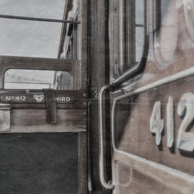 """""""An open carriage door"""" stock image"""