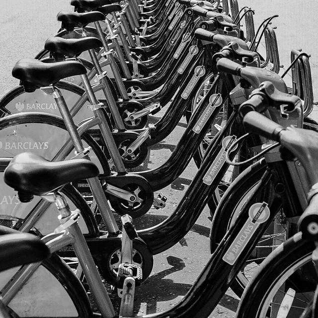 """Monochrome Bikes"" stock image"