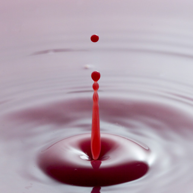 """Drop of Red"" stock image"