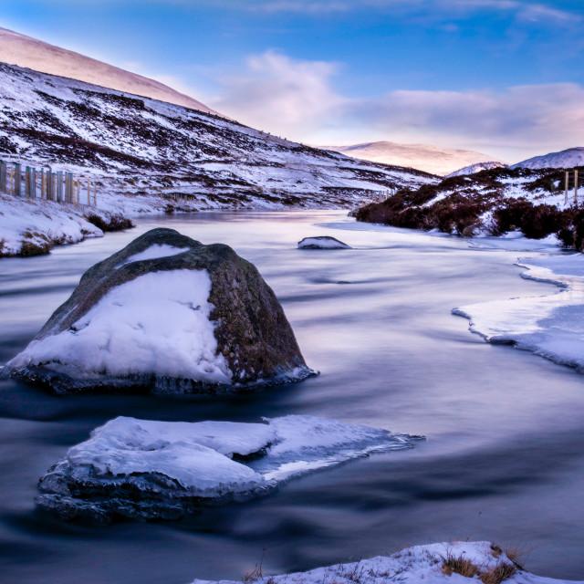 """""""Ice Flow"""" stock image"""