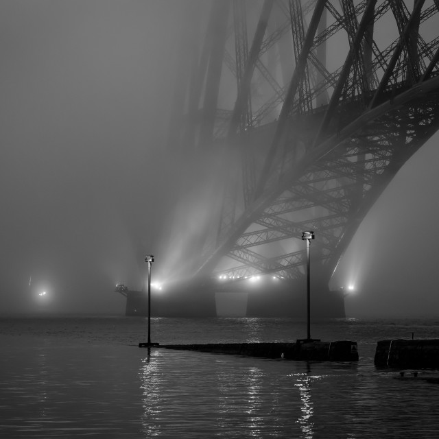 """Moody Bridge"" stock image"