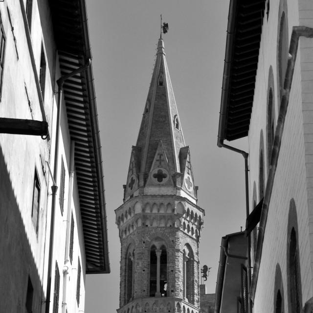 """Tower of Badia Fiorentina"" stock image"