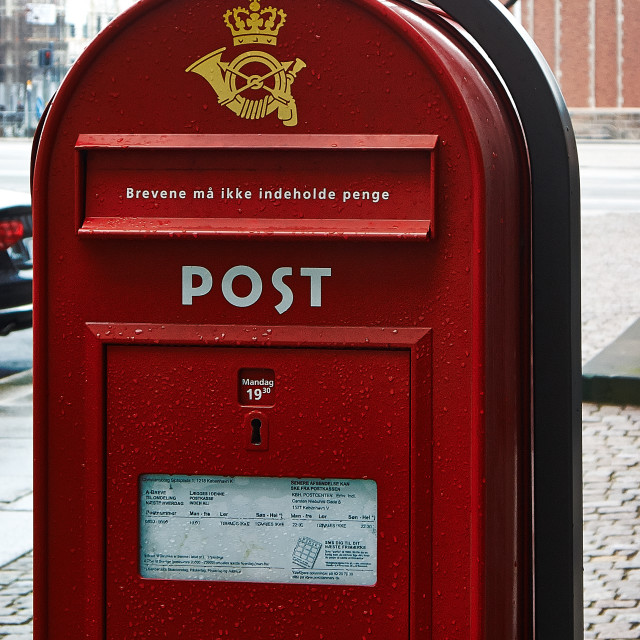 """Danish Post Box"" stock image"