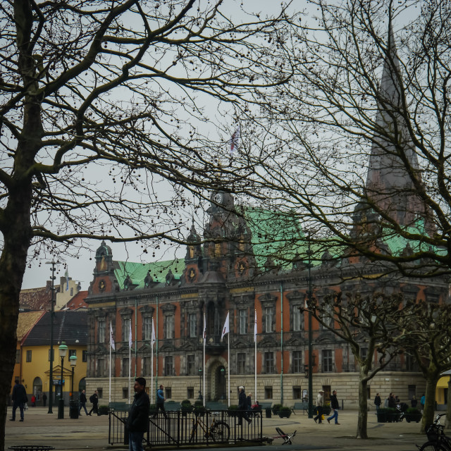 """Malmo Town Square"" stock image"
