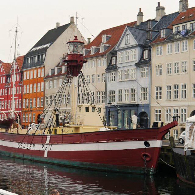 """""""Lightship, Nyhavn"""" stock image"""