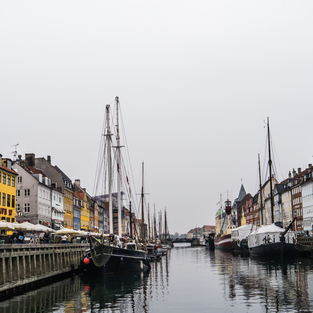 """Nyhavn Harbour"" stock image"