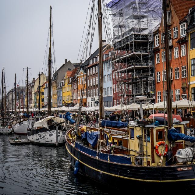 """""""Wotan, Nyhavn"""" stock image"""