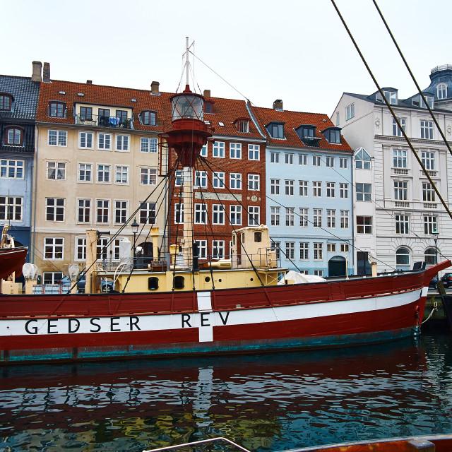 """""""Nyhavn Lightship"""" stock image"""