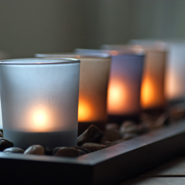 """Candle light"" stock image"