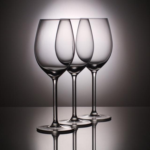"""Three Wine Glasses 2"" stock image"