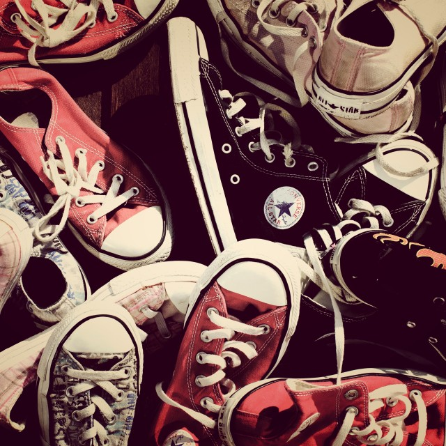"""Converse crowd"" stock image"