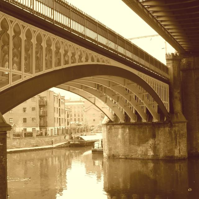 """Bridge over Bridgewater"" stock image"
