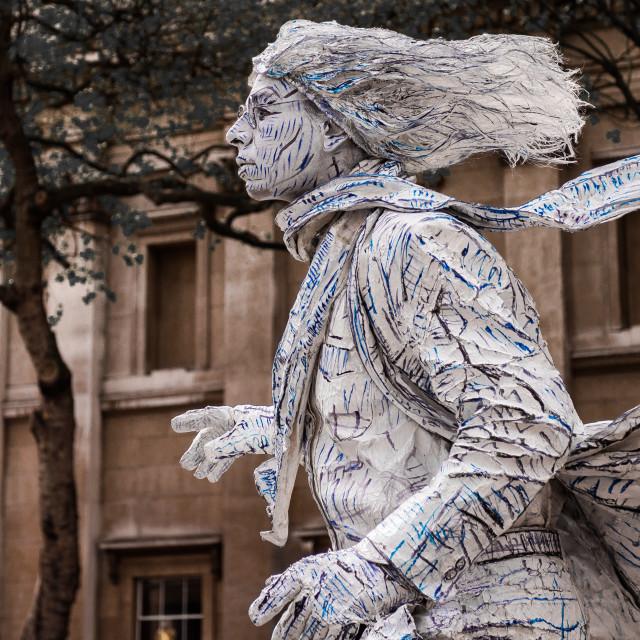 """Windswept Human Statue"" stock image"