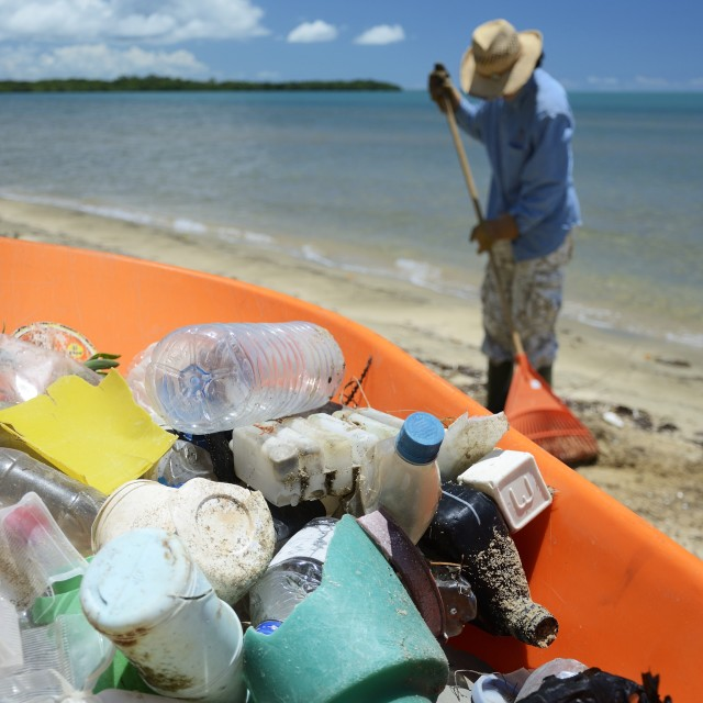 """""""Garbage from the beach"""" stock image"""