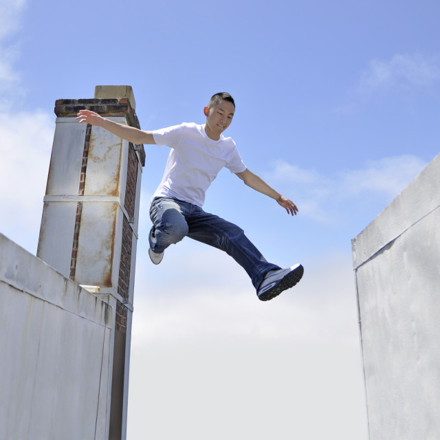 """Big leap"" stock image"