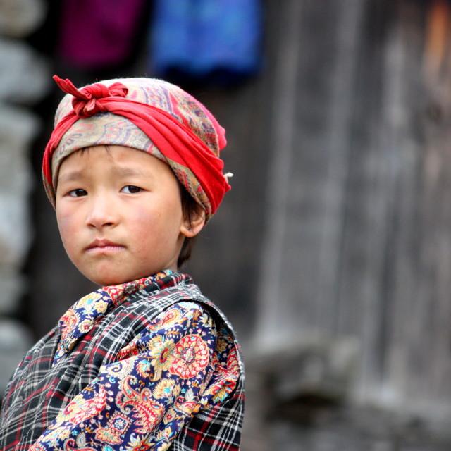 """Tamang girl"" stock image"