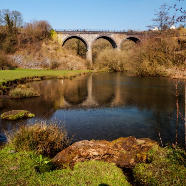 """Monsal Viaduct"" stock image"