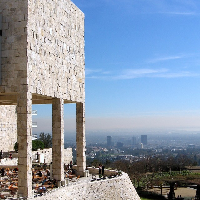"""Getty Museum Los Angeles"" stock image"