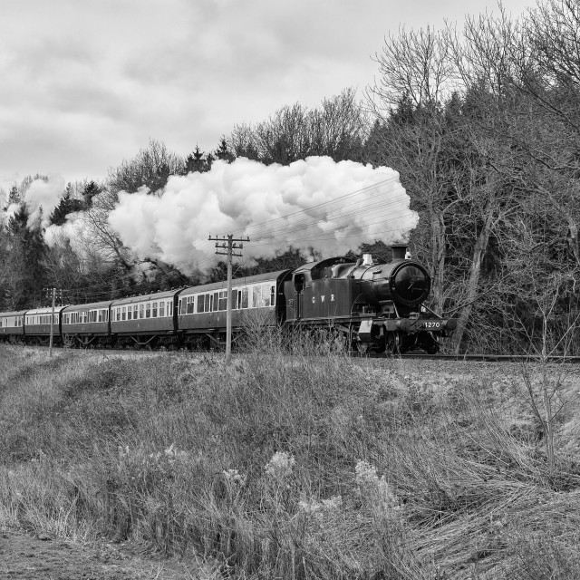 """GWR 2-8-0T No.4270"" stock image"