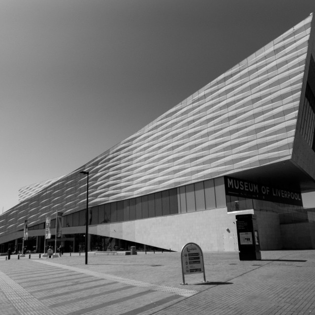 """Museum of Liverpool (in mono)"" stock image"
