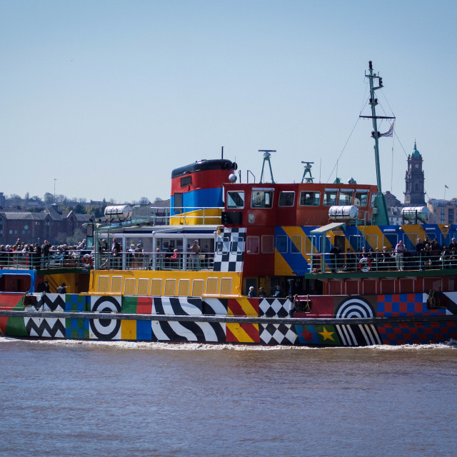 """Snowdrop Ferry, River Mersey"" stock image"