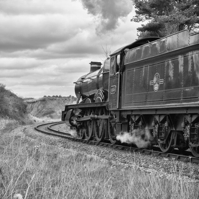 """""""GWR No.4936 Kinlet Hall"""" stock image"""