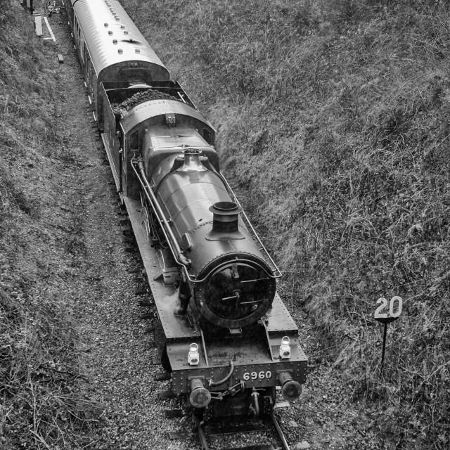 """GWR No.6959 Raveningham Hall"" stock image"