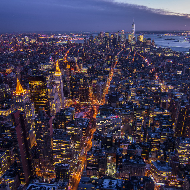 """Manhattan from the Empire State Building"" stock image"